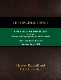 The Discipline Book: Essentials of Discipline Involving Officers and Employees in the Public Service - 2018 edition cover