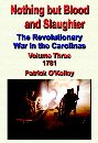 Nothing but Blood and Slaughter, the Revolutionary War in the Carolinas, Volume Three, 1781 by Patrick O'Kelley