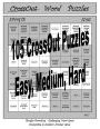 105 CrossOut Word Puzzles by Douglas A Cramer