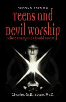 TEENS AND DEVIL WORSHIP - What Everyone Should Know - SECOND EDITION by Charles Evans