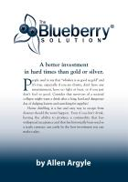 The Blueberry Solution by Allen Argyle