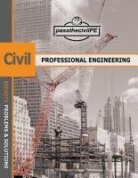 Pass the Civil Professional Engineering (PE) Exam Guide Book by Tenaya Industries LLC