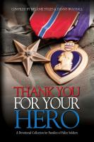 THANK YOU FOR YOUR HERO: A Devotional Collection for Fallen Warriors by Danny Woodall