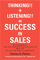 THINKING!! + LISTENING!! = SUCCESS IN SALES cover