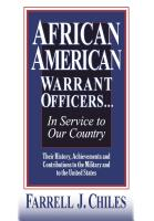 African American Warrant Officers... In Service to Our Country by Farrell J. Chiles
