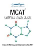 MedQuest MCAT FastPass Study Guide by Elizabeth Malphrus and Conrad Fischer, MD.