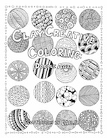 CLAY CREATIVE COLORING: Doodle Away cover